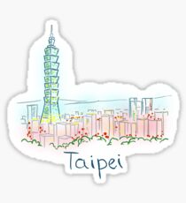 Taipei City Panorama at night Sticker