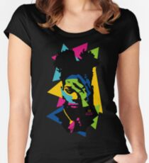 Basquiat color Women's Fitted Scoop T-Shirt