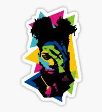 Basquiat color Sticker