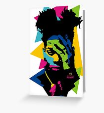 Basquiat color Greeting Card