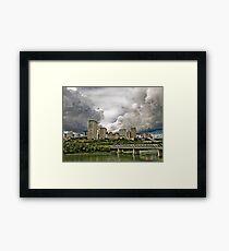 Summer Storm Over Edmonton Framed Print