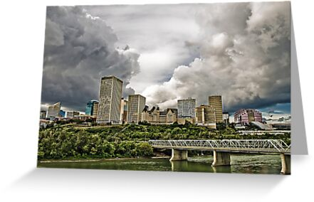 Summer Storm Over Edmonton by Myron Watamaniuk