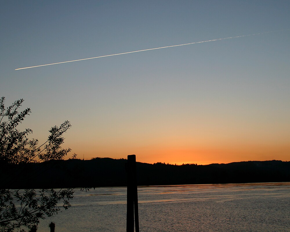 Sunset on the Columbia by Tim Eyre