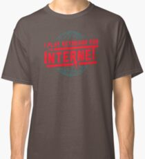 I Play Keyboard For The Internet QC494 Best Trending Classic T-Shirt
