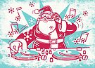 Funky Santa by drawgood