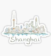 Shanghai Panorama Sticker