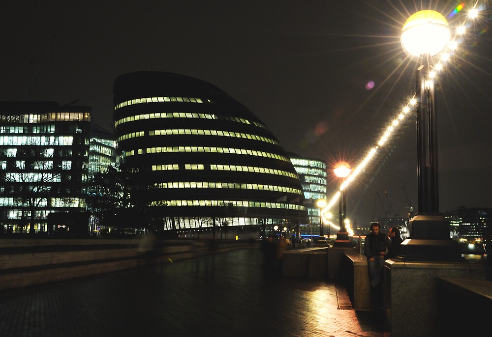 City Hall at Night by Simon Hughes