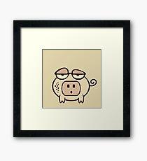 Socket Nose Piggy VRS2 Framed Print