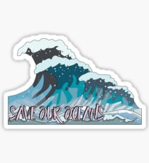 Save the Oceans, Save the Earth Sticker