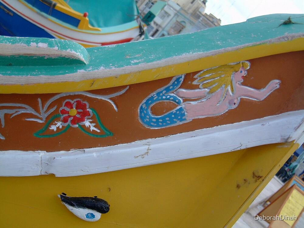 Decorative Bow of Maltese Boat by DeborahDinah