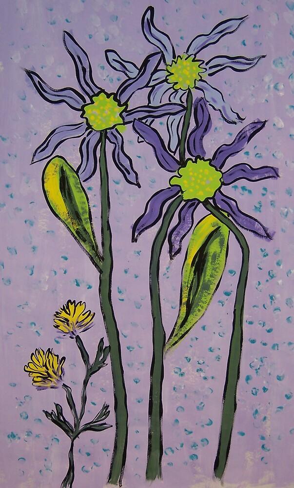 Purple Floral by Angel Craddock