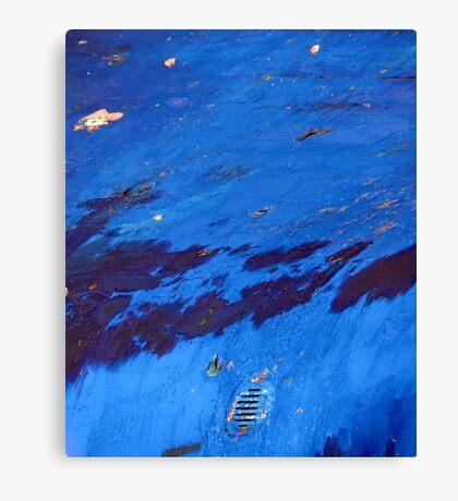 Boat Blue Canvas Print