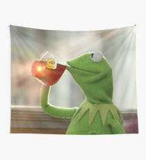 Kermit Sipping Tea Wall Tapestry