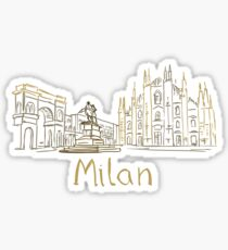 Milan Milano Panorama Sticker