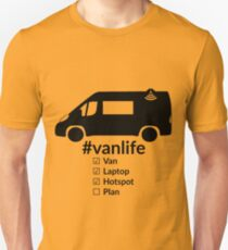 Vanlife Checkliste schwarz Slim Fit T-Shirt