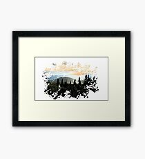 Mountains Painted Landscape Framed Print