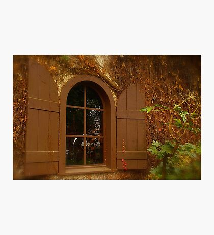 Window and Shutters Photographic Print