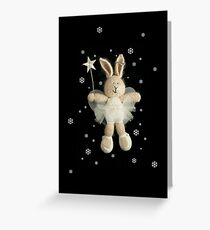 christmas angel bunny Greeting Card