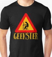Geekster - Geek Gangster - Cool Funny Nerdy Design Unisex T-Shirt