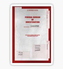 X-Files Folder Cover Sticker