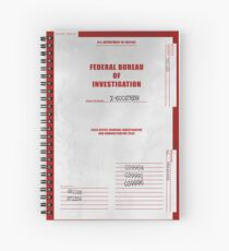 X-Files Folder Cover Spiral Notebook