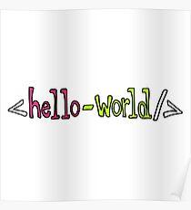 Hello World Geeky Pun Poster