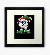 Christmas Baseball Framed Print