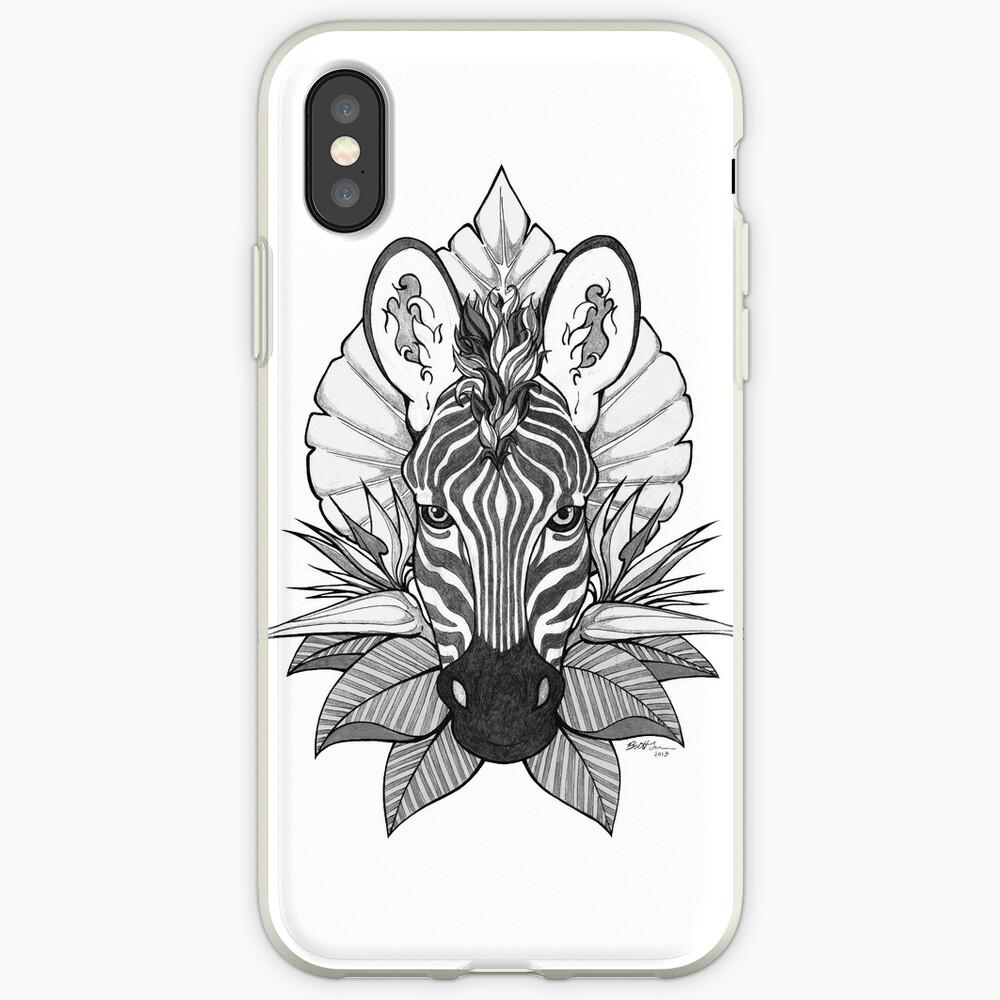 Zebra & Jungle Leaves iPhone Case & Cover