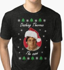 Dashing Theroux the snow - Therouxgear Tri-blend T-Shirt