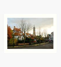 An autumnal impression from Amersfoort Art Print
