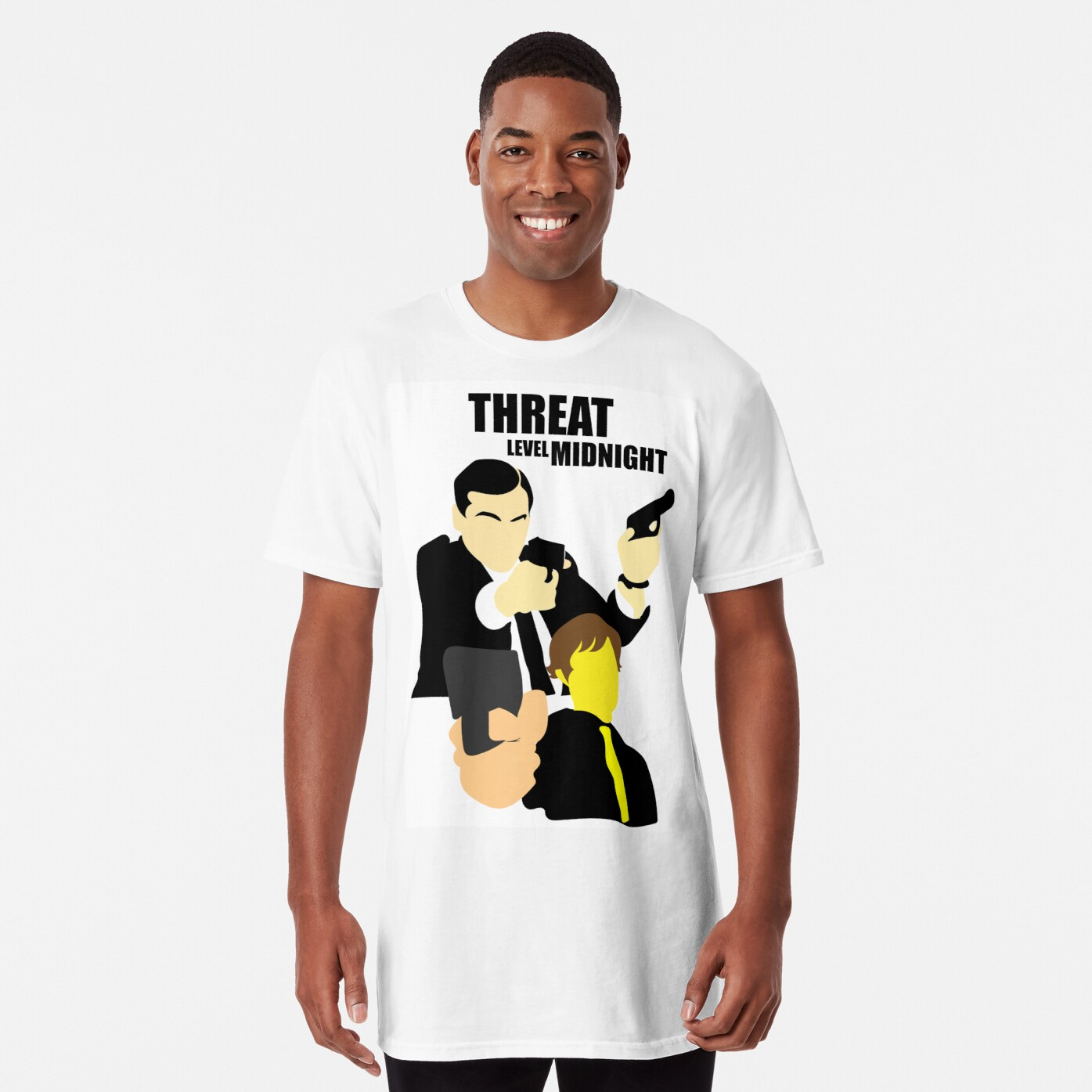 1dd4c1d6bf7f82 The Office - Threat Level Midnight Long T-Shirt Front