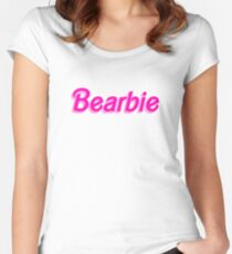 Bearbie Parody - Cool Barbie Parody Traveler Sticker T-Shirt Pillow Women's Fitted Scoop T-Shirt