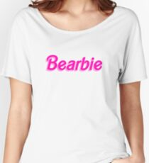 Bearbie Parody - Cool Barbie Parody Traveler Sticker T-Shirt Pillow Women's Relaxed Fit T-Shirt