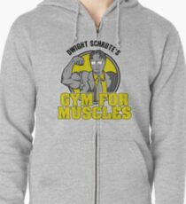 Dwight Schrute's Gym for Muscles Zipped Hoodie