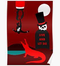 Live and let inspiriertes Design sterben Poster