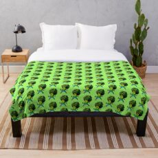 Trippy Broccolee Throw Blanket