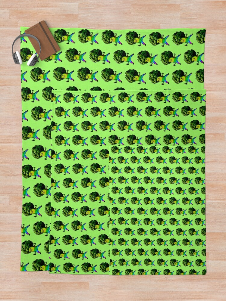 Alternate view of Trippy Broccolee Throw Blanket