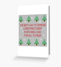 Spreading Xmas cheer Greeting Card