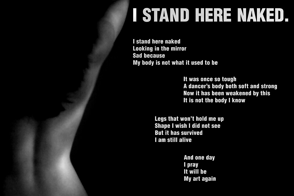 I Stand Here Naked. by Stacey Yount