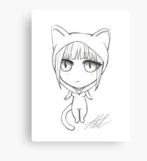 Kitty Girl Chibi Canvas Print