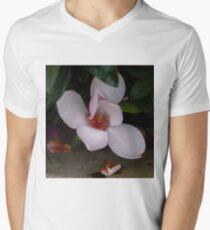 Magnolia after the rain. Men's V-Neck T-Shirt