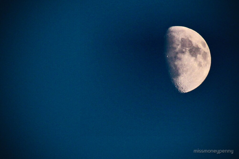 Moon in a clear sky by missmoneypenny