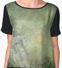 Psychedelic Space Chiffon Top
