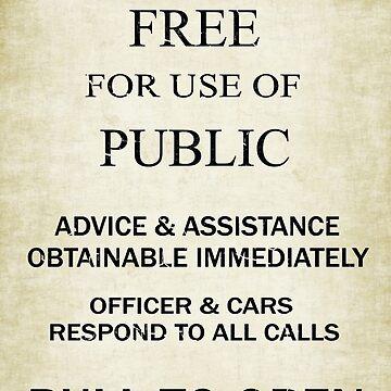 Gratis para uso del público - Vintage British Police Call Box Sign. de Ra12