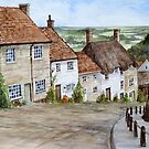 Gold Hill, Shaftesbury, Dorset by Farida Greenfield