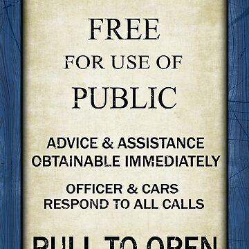 Gratis para uso del público - Señal de llamada de la policía británica de época - Marco C / W de Ra12