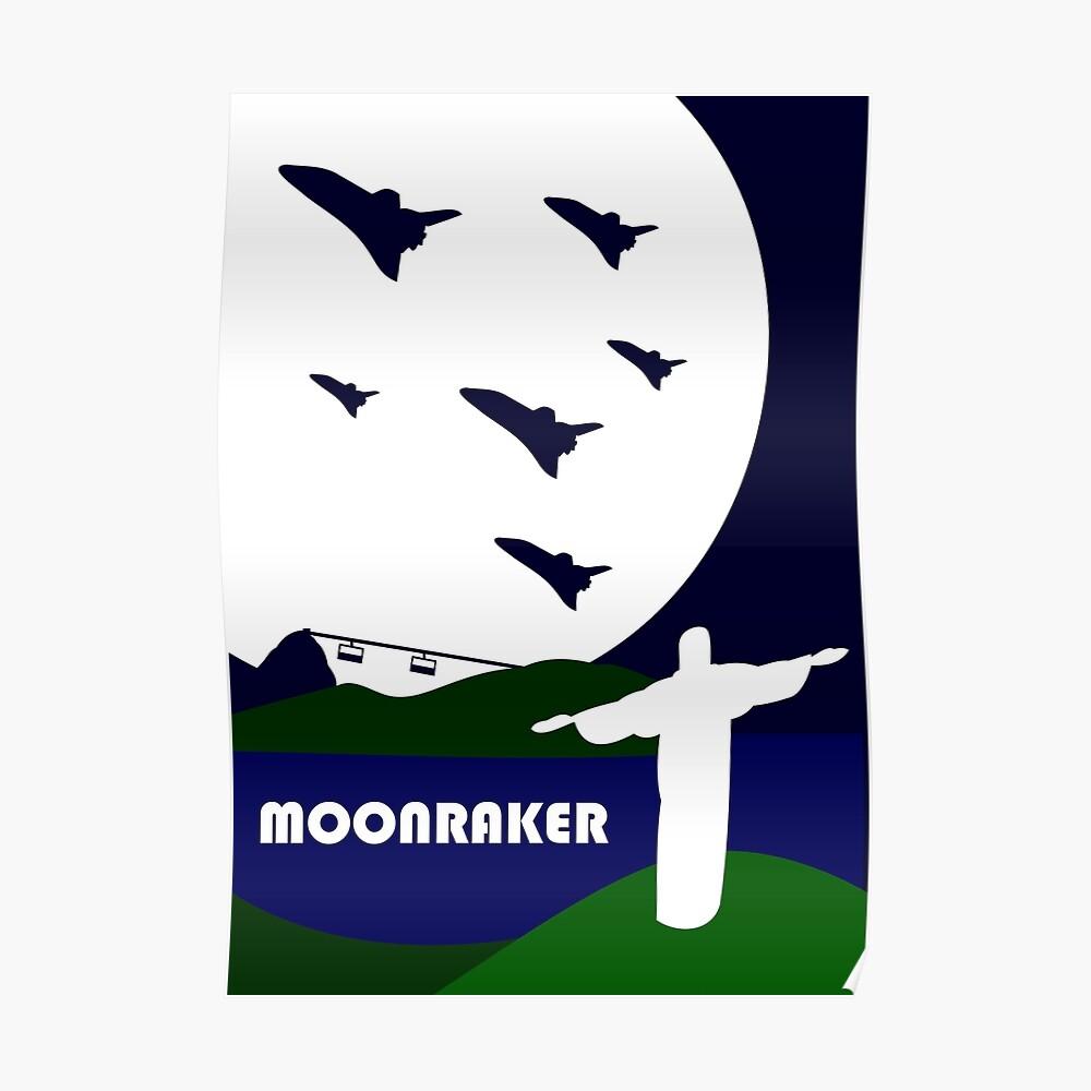 Moonraker inspiriertes Design Poster