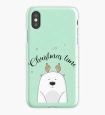 Christmas bear iPhone Case/Skin