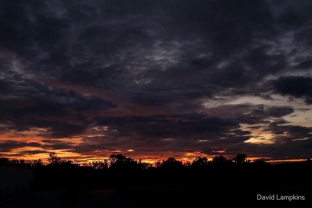 Cozy Fall Sunset by David Lampkins