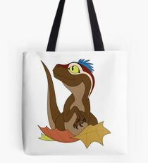 Retro Baby Raptor (colored) Tote Bag